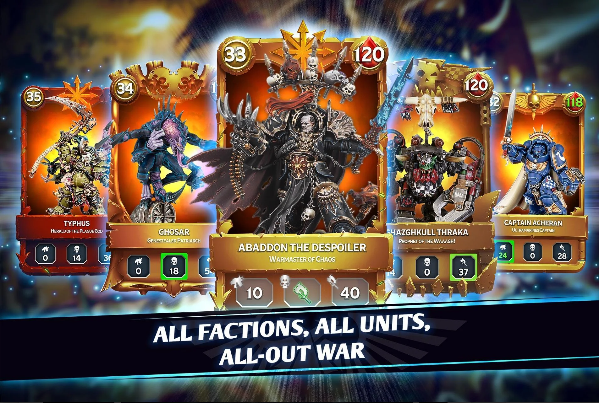 Warhammer Combat Cards feature